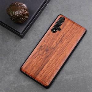 Image 4 - Onur 20 Case Boogic Orijinal Gerçek Ahşap funda Huawei Onur 20 Pro Gülağacı TPU Darbeye arka kapak Telefonu Kabuk Honor20 kılıfı