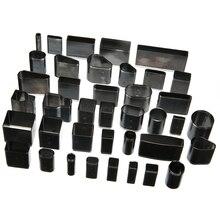 цена на 1 Set 39 Different Shape Style Hole Hollow Cutter Punch Leather Craft DIY Tool Metal Handmade Hole Punch Set