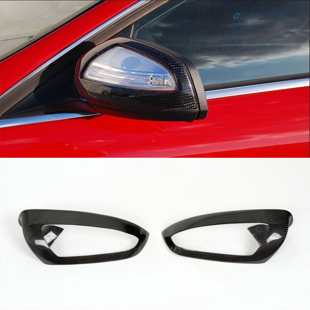 W204 Car-Styling Carbon Fiber Rear View Mirror Covers Car Side Mirror Caps For Benz W204 2007-2010