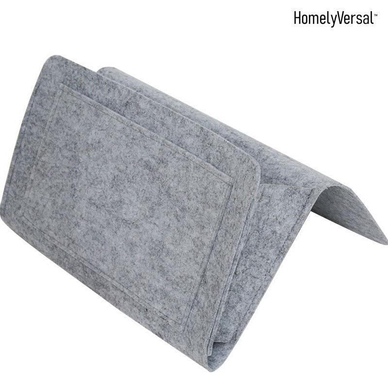 Прикроватный органайзер для хранения прикроватный висячий карман для организации журнального телефона маленькие вещи Экономия пространства кровать посылка - Цвет: Серый