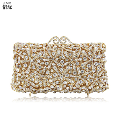 XIYUAN BRAND Women GREEN Shoulder Evening Bags Female Party Clutch Pearl red Bag Rhinestone Cocktail gold Purse With Chain blue newest design evening bags ring diamond clutch chain shoulder bag purses wedding party banquet bag blue gold green red 88621 d