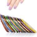 12 Шт. 12 Разноцветные Разноцветные Rolls Чередование Ленты Линия Nail Art Украшения Наклейки DIY Советы Ногтей