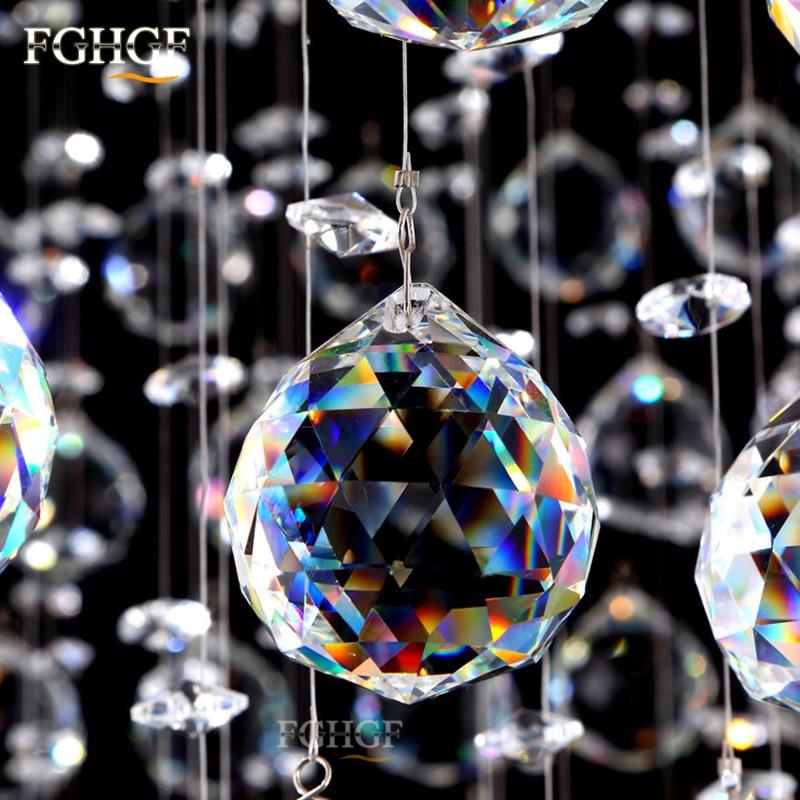Luksuzni kvadratni kristalni luster Svjetlo Lustres de Cristal - Unutarnja rasvjeta - Foto 4