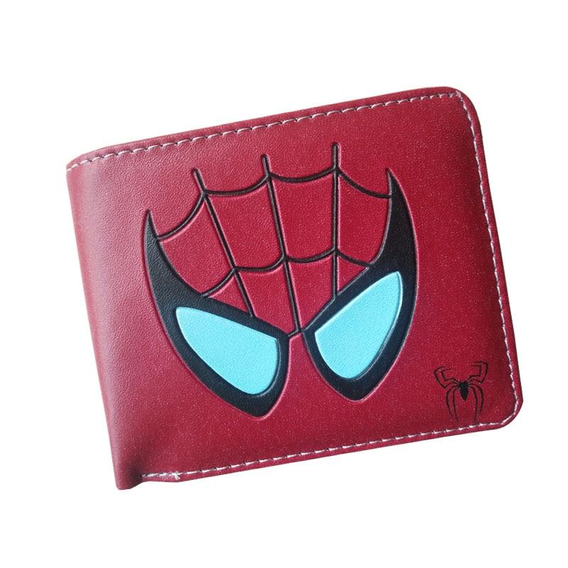 2017 New Arrival  Anime Wallet Men Women Avengers Superhero Spider-man Wallet Cool Student Short Wallet Purse Dollar Price Bag