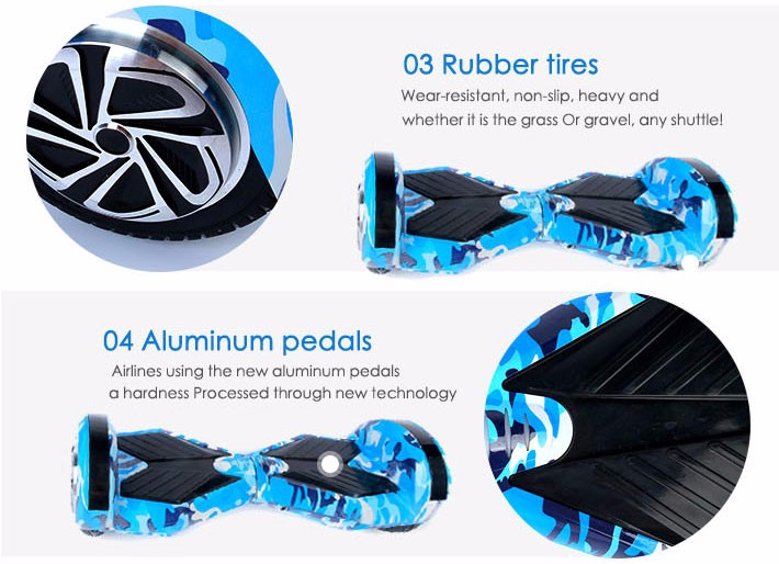 Self balancing Hoverboard or two wheels skateboards with Bluetooth and LED light for Adults 18