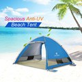 New 3-4 People Automatic Instant Pop Up Beach Tent Lightweight UV Protection Tent Water Repellent Beach Tent Cabana Sun Shelter