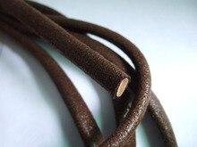 1 yardas 10 x 5 mm Brown medio círculo genuino cuerda de cuero Real moda joyería accesorios L0040