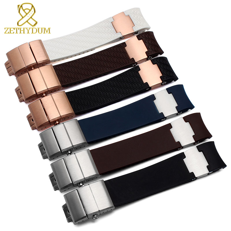 silicone rubber watch strap movement waterproof watchband 22mm soft and comfortable Bracelet with steel plate for marine band beautiful cartoon rubber strap quartz watch with plane and cloud shaped watchband for children azure