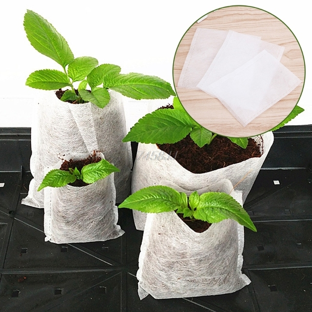 100pcs Nursery Pots Seedling Raising Bags fabrics Garden Nursery bags Supplies G03 Drop ship