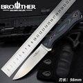 [BROTHER F001] нож с фиксированным лезвием  бушкрафт  прямой нож для выживания  тактический  охотничий  для кемпинга  ручной работы  высокое качест...