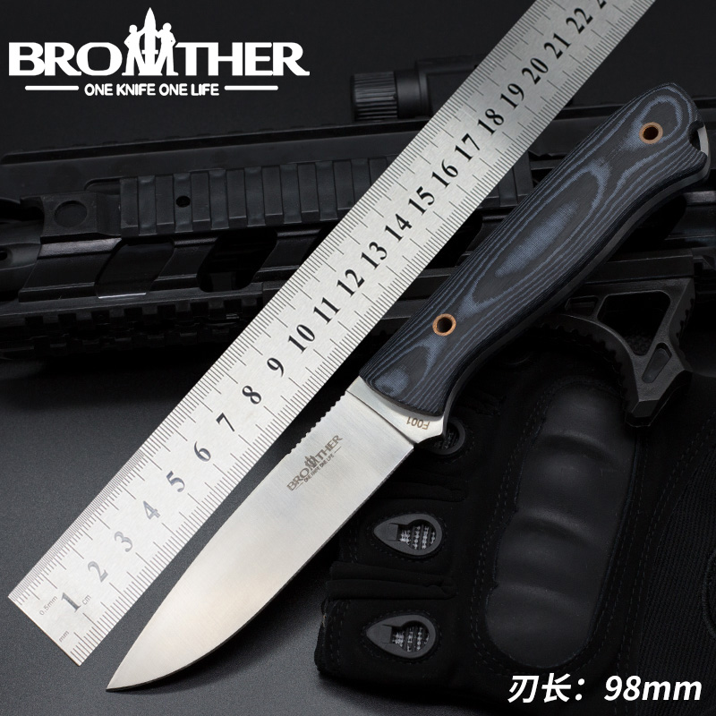[BROTHER F001] Fixed Blade knife Bushcraft Survival Straight knife Tactical Hunting Camping Handmade high quality EDC tool(China)