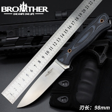 [BROTHER F001] Fixed Blade knife  Bushcraft Survival Straight Tactical Hunting Camping Handmade high quality EDC tool