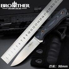 [BROTHER F001] sabit bıçak bıçak Bushcraft Survival düz bıçak taktik av kamp el yapımı yüksek kaliteli EDC aracı