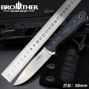 Image 1 - سكين نصل ثابت [BROTHER F001] سكين نجاة مستقيمة سكين تكتيكي للصيد والتخييم مصنوع يدويًا أداة EDC عالية الجودة