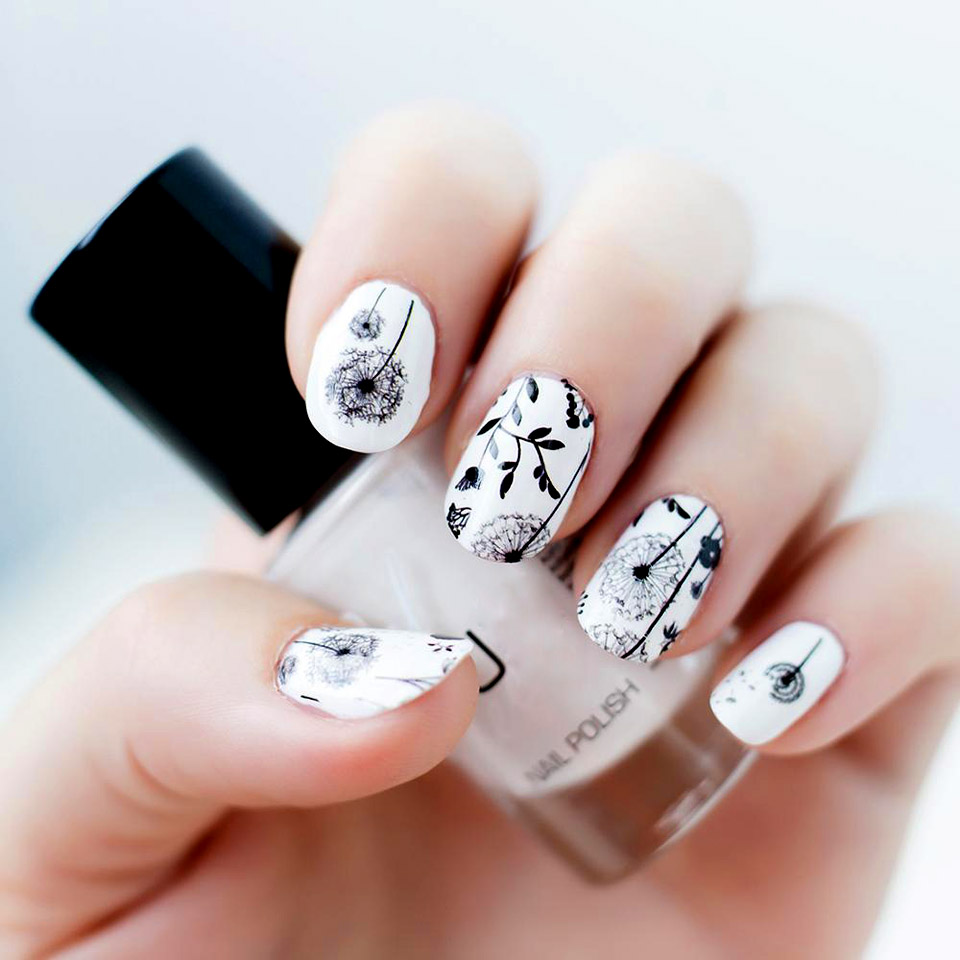 Slider for Nails Water Stickers for Nails Dandelions Nails Art ...