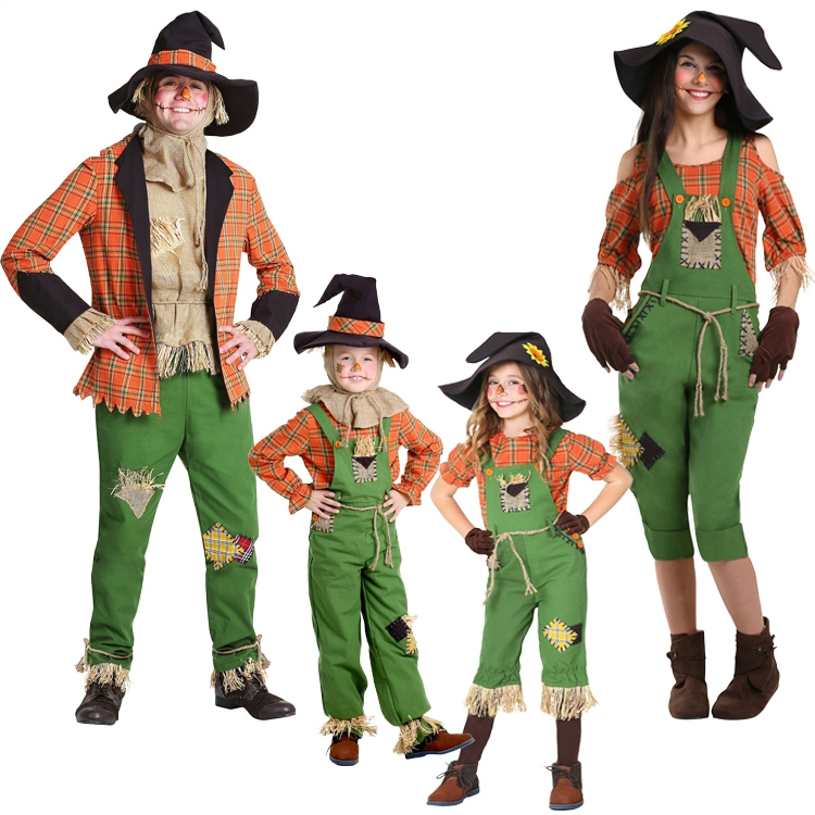 Hot Cosplay Halloween Kostüm Grün Wizard Neue Vogelscheuche Kostüm