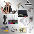 Complete 1Tattoo guns machine kits 5ml tattoo ink sets power supply disposable needle free shipping
