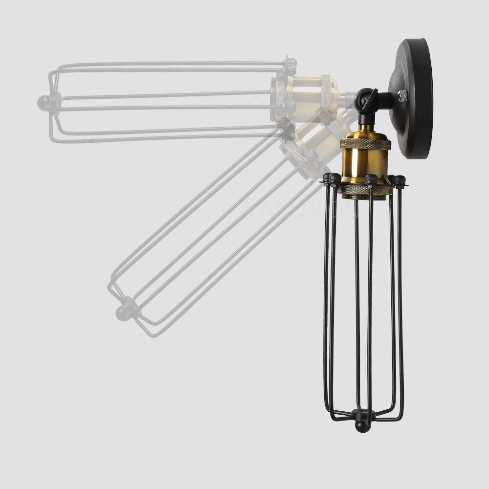Retro Vintage Edison Pendelleuchte Lampe Eisen Schutz Drahtkäfig ...