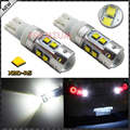 2pcs High Power 50W Extreme Bright 10-CRE'E XB-D T10 T15 LED Bulbs For Car Parking Backup Reverse Lights 194 920 912 921 T10