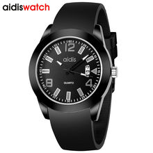 Top Men Watches Luxury Brand Men's Quartz With Date Sports Youngmen Wristwatch Silicone Strap Brand Watch kids