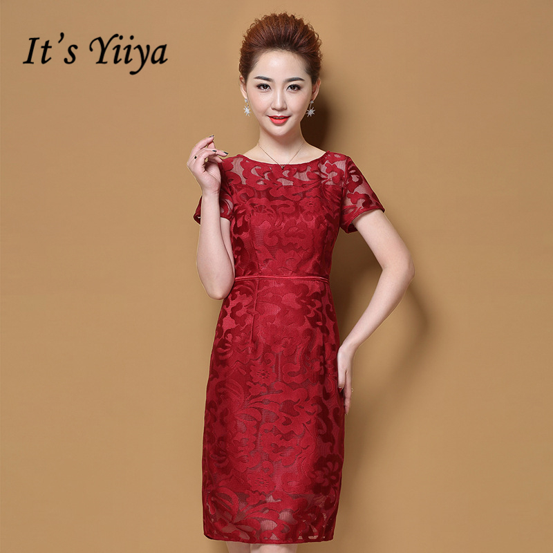 It's Yiiya Mother Of The Bride Dresses Plus Size O Neck