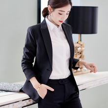 2018 Princess Women's Clothes Autumn Suits Black Slim Formal Work Blazers One Button Long Sleeve Suit Casual Jackets Traje Terno