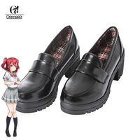 ROLECOS Japanese Anime Love Live Sunshine Cosplay Shoes Takami Chika Girls JK Shoes Love Live Aqours