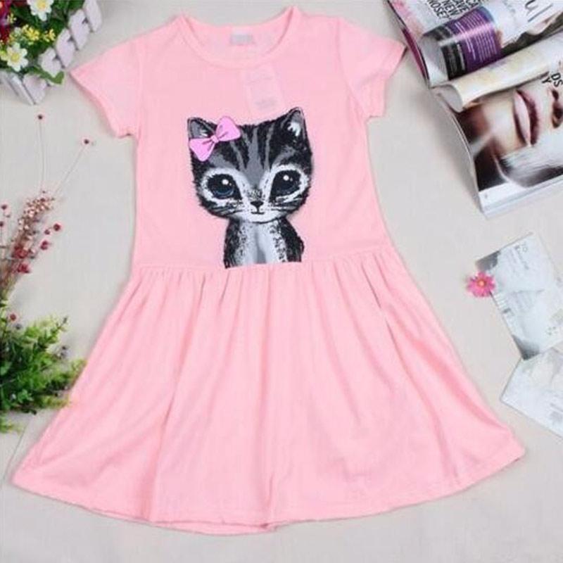 Baby Girls Cotton Cat Dress