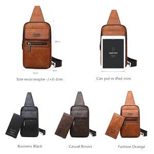 Image 2 - 지프 BULUO 브랜드 패션 슬링 가방 고품질 남자 가방 분할 가죽 대형 어깨 Crossbody 가방 젊은 남자에 대 한