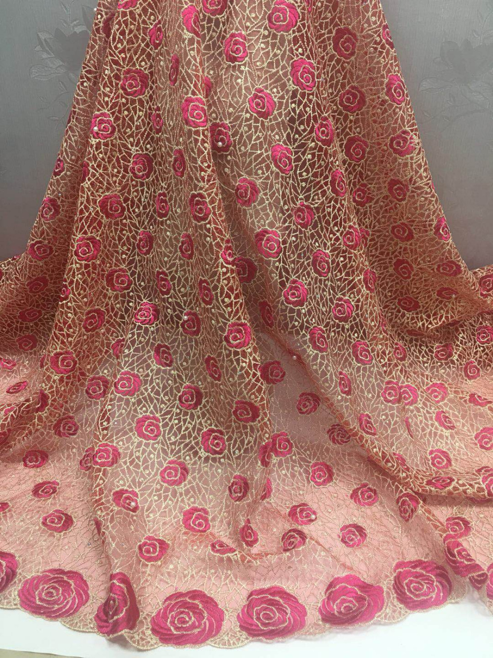 Aliexpress.com : Buy Light pink french lace fabric with