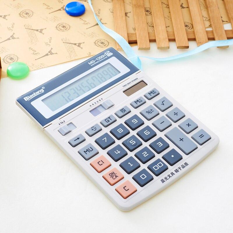 M&G Calculator ADG98197 business office screen, 12 digit, large, desktop, financial, dedicated MG1200H deli 1541a calculator teaching resources mathematics big button calculator large screen calculator finance office 1pcs