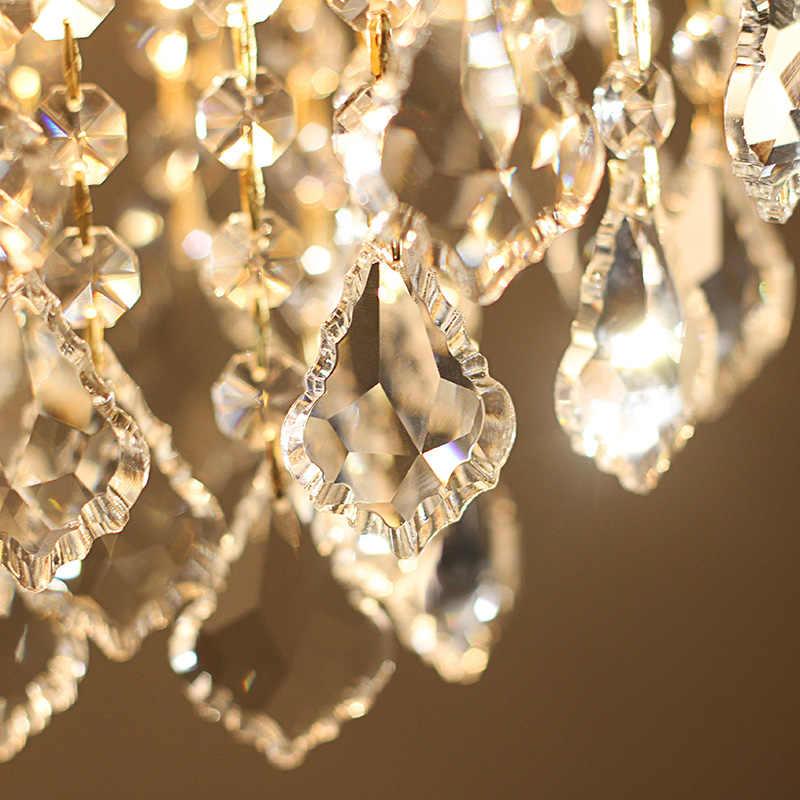 Современный K9 свеча кристалл прохода светодиодный элегантный потолочный светильник освещение в помещении Ресторан украшения потолок коридор балкон лампа