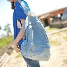 Старинные Случайный Опрятный Стиль Простой светло-Голубой Джинсовой Рюкзак Школьные Сумки Джинсы Женщины Daypacks CrossBody сумка bolsa feminina