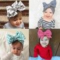 Moda Acessórios de Cabelo BeBe Bebê Meninas Coloridas de Algodão Listrado Crianças Bow Headband para Crianças Flores Hairband HeadWrap Turbante