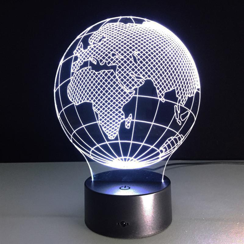 LED USB Colorful Night Lamp 3D Africa Map Lamp Kids Gift