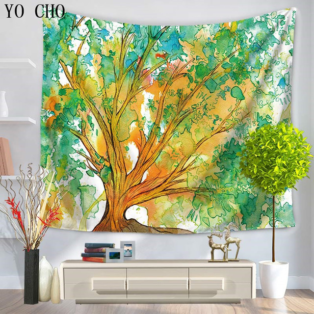 YO CHO Dorm Decorhanging Tent Mandala Wall Hanging Yoga Mat Poster ...
