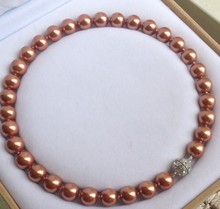 Genuine 12mm South Shell Pearl Gems Round Beads Necklace Magnet Clasp Grade Pearl Jewelry Beads 925 silver wedding Women Gift a genuine selling 16mm south shell baroque peacock black shell pearl necklace jewelry beads 925 silver wedding women gift