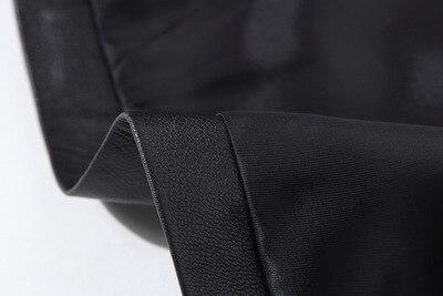 E6 Mode Black Véritable Jupe 2019 Mouton Nouvelle Cuir En pf7qO7S