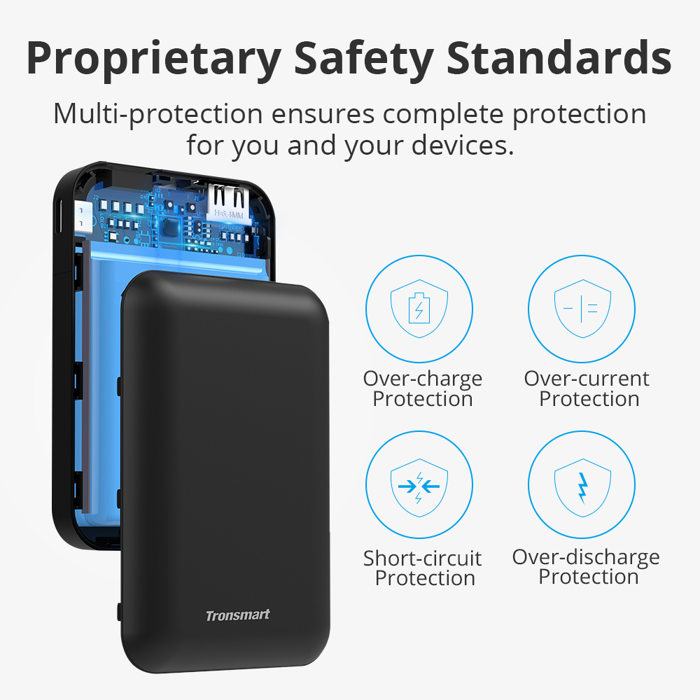 Image 5 - Tronsmart PB10 Mini Power Bank 10000mah Fast Charge External Battery Portable Charger with LED Display for iPhone,Samsung,xiaomi-in Power Bank from Cellphones & Telecommunications