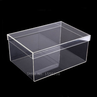 14.96x9.84x6.69inch Transparent Shoe Box Clear Display Acrylic Case Shoe Rack