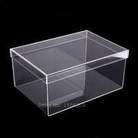 14.96x9.84x6.69inch Transparent Shoe Box Clear Display Acrylic Case Shoe Rack