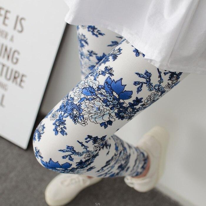 Hot 2019 Blue And White Porcelain Printing Women Leggings Pant High Waist High Elasticity Flowers Printed Legging