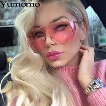 Yumomo 2019 New Square Sunglasses Women Brand Designer Metal Unique Frame Oversized Glasses Vintage Retro Red De Sol Gafas UV400