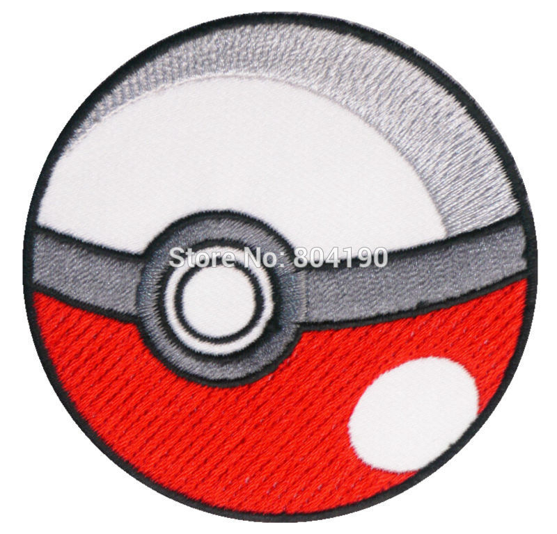 POKEMON POKEBALL TV MOVIE Series Embroidered Sew On Iron On Patch Tshirt TRANSFER MOTIF APPLIQUE Badge