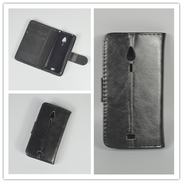 Crystal grain wallet case hold two Cards with 2 Card Holder and pouch slot for Nokia 230 / 230 Dual SIM