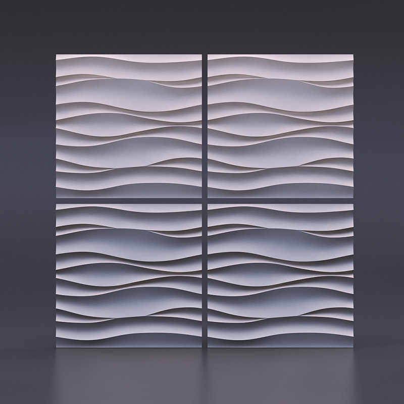 "Plastic Molds Plastic forms, plastic 3D decorative wall panels ""Wave Atlantic"" for gypsum, Price for 1pcs unique design"