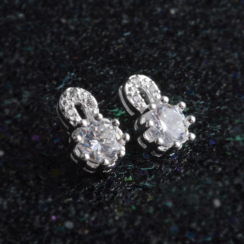 JEXXI Hot Sale Jewelry Earrings For Women Stud Earrings Girls Gift 2 Optional Luxury Austrian Crystal Ear Stud Earring