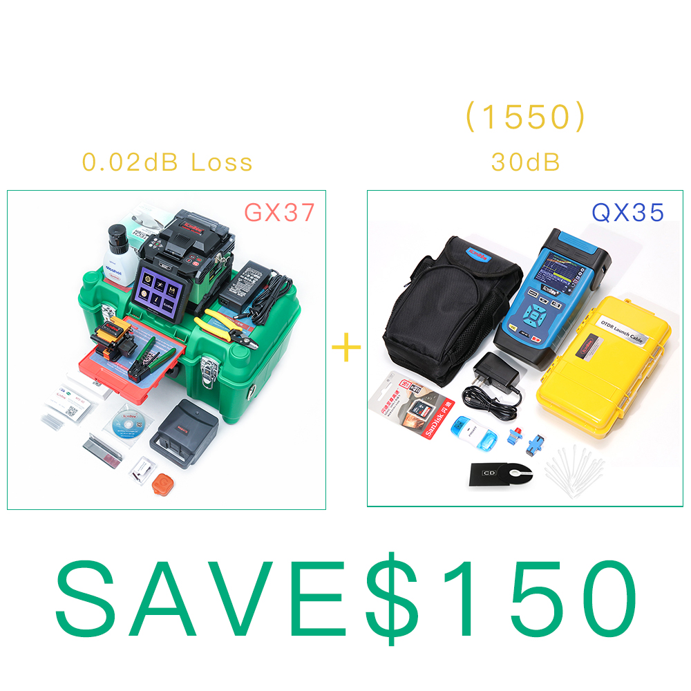Discounted Fiber Optical Fusion Splicer Komshine GX37 Kit as 70S Fusion Splicer + SM 1550nm 30dB QX35 OTDR as JDSUDiscounted Fiber Optical Fusion Splicer Komshine GX37 Kit as 70S Fusion Splicer + SM 1550nm 30dB QX35 OTDR as JDSU