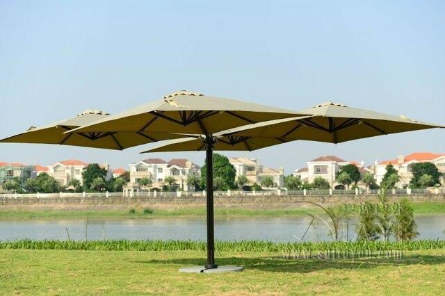 2.5 * 2.5 metro jardín grandes paraguas de sol parasol cubierta ...
