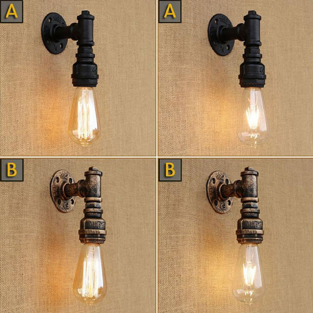 Minimalist Simple Vintage Loft water pipe wall lights art wall decorated sconces for home stair bar coffee shop restaurant